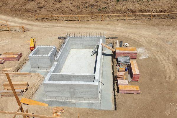 La costruzione di una piscina